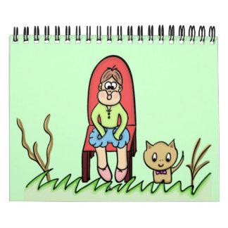 CALENDARIO arte del dibujo animado