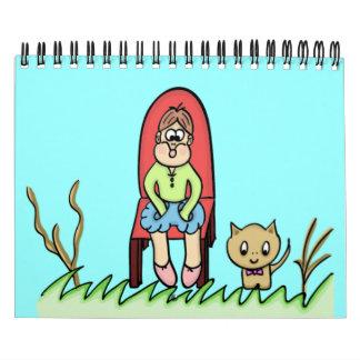 "CALENDARIO ""arte del dibujo animado """