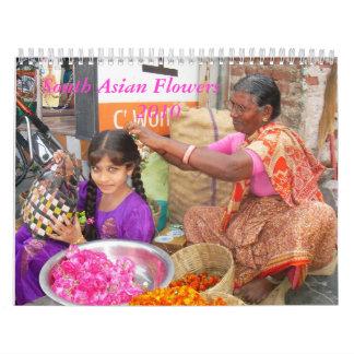 Calendario asiático del sur de las flores