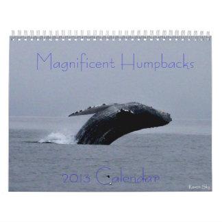 Calendario asombroso de la ballena jorobada