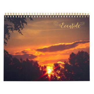 Calendario asombroso de la fotografía de la puesta