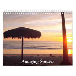 Calendario asombroso de las puestas del sol 2013