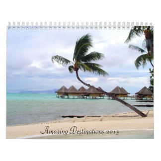 Calendario asombroso de los destinos 2013