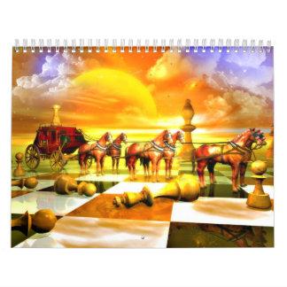 Calendario asombroso del ajedrez