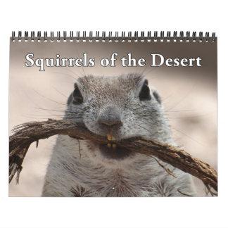Calendario atado redondo de las ardillas de tierra