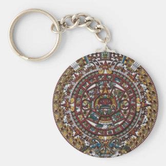 Calendario azteca llavero redondo tipo pin