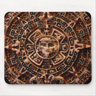 Calendario azteca maya del disco de Sun Tapetes De Ratones