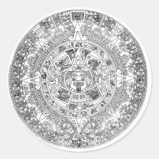 calendario azteca pegatinas