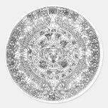 calendario azteca pegatinas redondas
