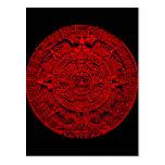 Calendario azteca - postal (del rojo)