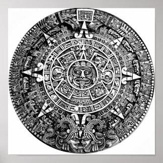 Calendario azteca póster