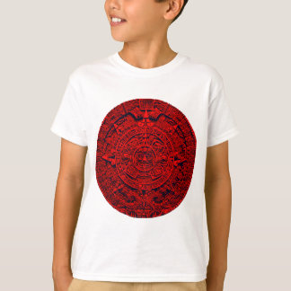 Calendario azteca - rojo playera
