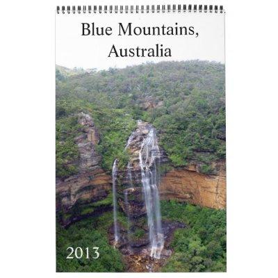 calendario azul 2013 de las montañas