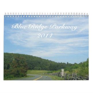 Calendario azul de la ruta verde 2014 de Ridge