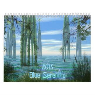 Calendario azul de la serenidad 2015
