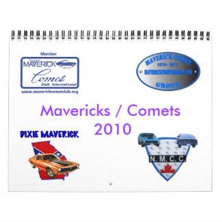 calendario azul de los rebeldes y de los cometas 2