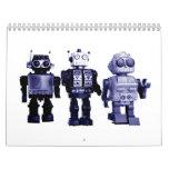 calendario azul de los robots