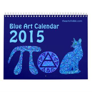 Calendario azul del arte 2015