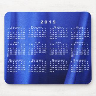 Calendario azul Mousepad del extracto 2015 de la Alfombrillas De Raton