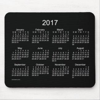 Calendario blanco de neón 2017 de Janz Mousepad