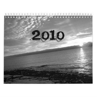 Calendario blanco y negro 2010