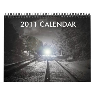 Calendario blanco y negro 2011