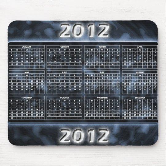Calendario blanco y negro 2012 para Mousepad