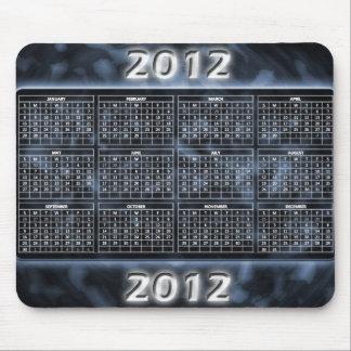 Calendario blanco y negro 2012 para Mousepad Tapetes De Ratones