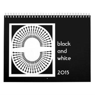 Calendario blanco y negro de las imágenes