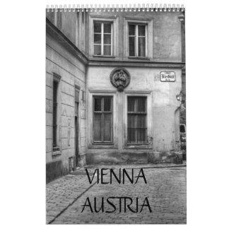Calendario blanco y negro de Viena Austria