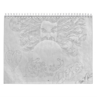 Calendario bosquejado del arte místico
