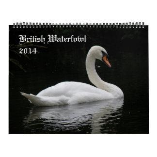 Calendario británico de las aves acuáticas 2014