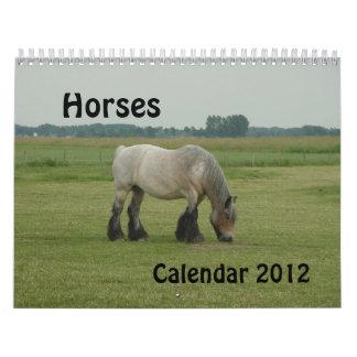 Calendario - caballos