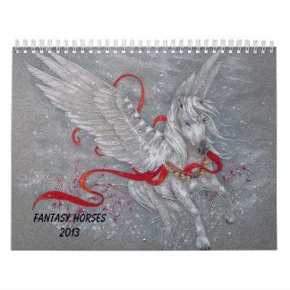 Calendario -- Caballos 2013 de la fantasía