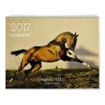 Calendario. CABALLOS de Akhal-teke. 2017 Calendario