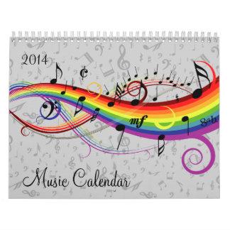 Calendario cambiable de la música del año