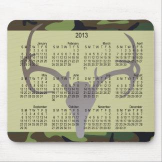 Calendario Camo del Año Nuevo 2013 con el cráneo d Tapete De Ratones