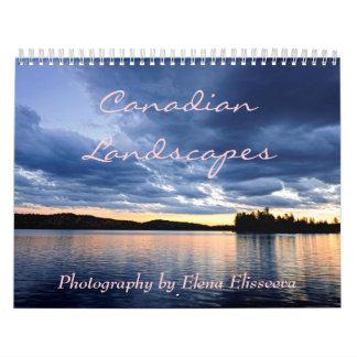 Calendario canadiense de los paisajes