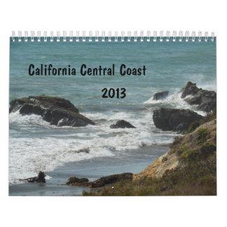 Calendario central 2013 de la costa de California