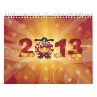 Calendario chino de dios del dinero del Año Nuevo
