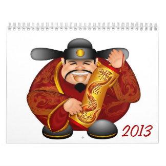 Calendario chino feliz del Año Nuevo 2013