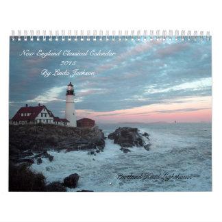 Calendario clásico 2015 de Nueva Inglaterra