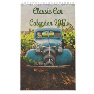 Calendario clásico 2017 del coche