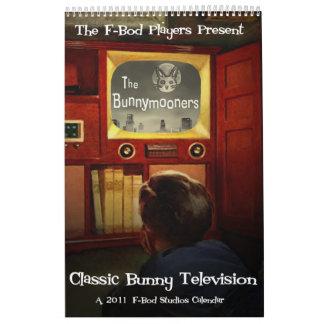 Calendario clásico de la televisión 2011 del conej