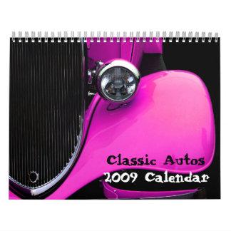 Calendario clásico de los automóviles 2009
