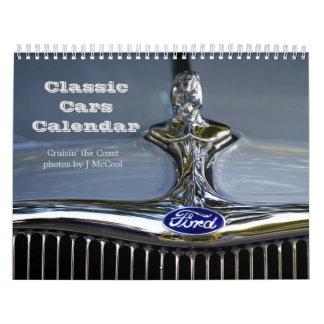 Calendario clásico de los coches
