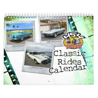 Calendario clásico del coche de 2015 paseos