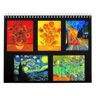Calendario-Clásico/Vintage-Vincent Van Gogh Calendarios De Pared