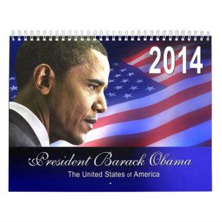 Calendario cobrable 2014 del recuerdo de Obama I