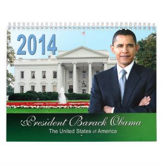 Calendario cobrable 2014 del recuerdo de Obama II
